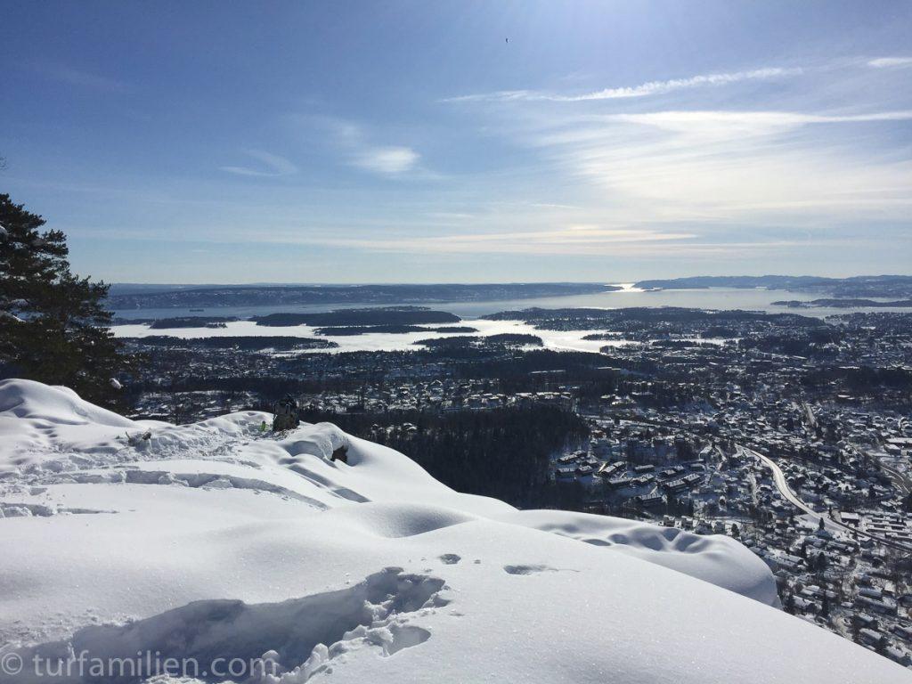 utsikt fra kolsåstoppen på vinteren