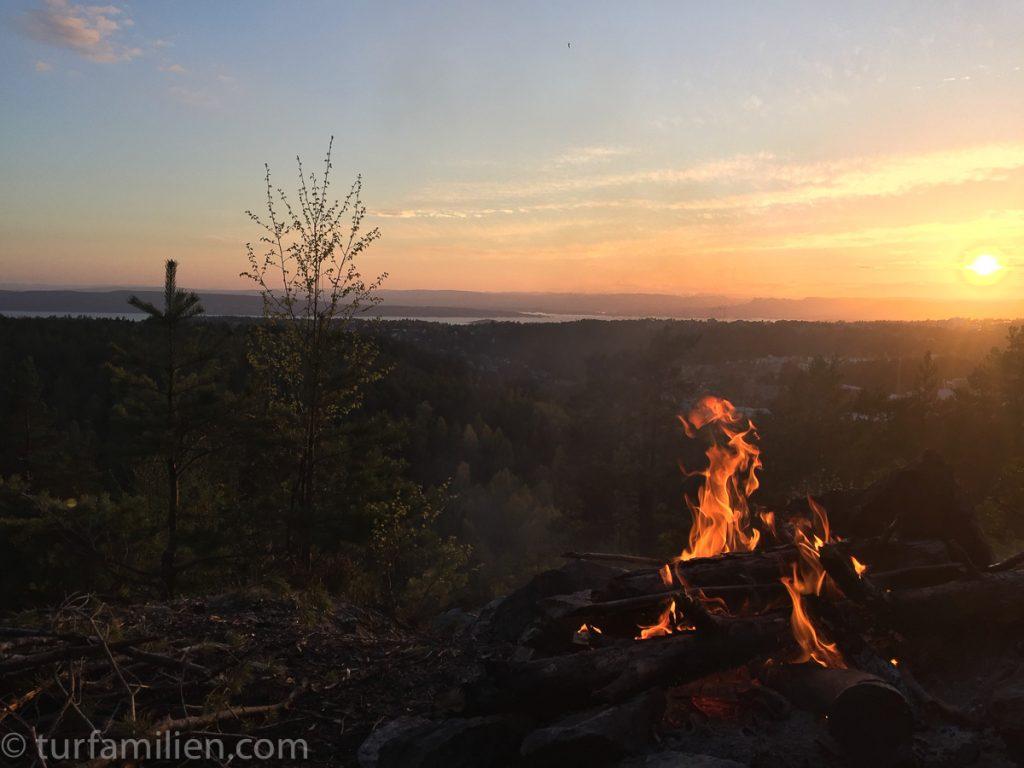 den vakreste solnedgang i østmarka