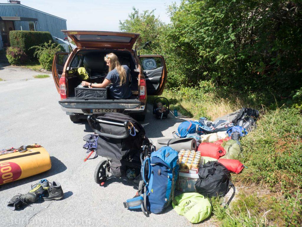 bil og alt utstyr