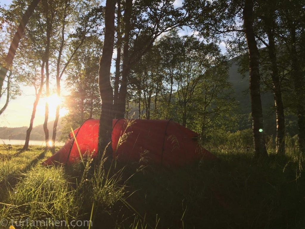 sove godt i telt i innerdalen