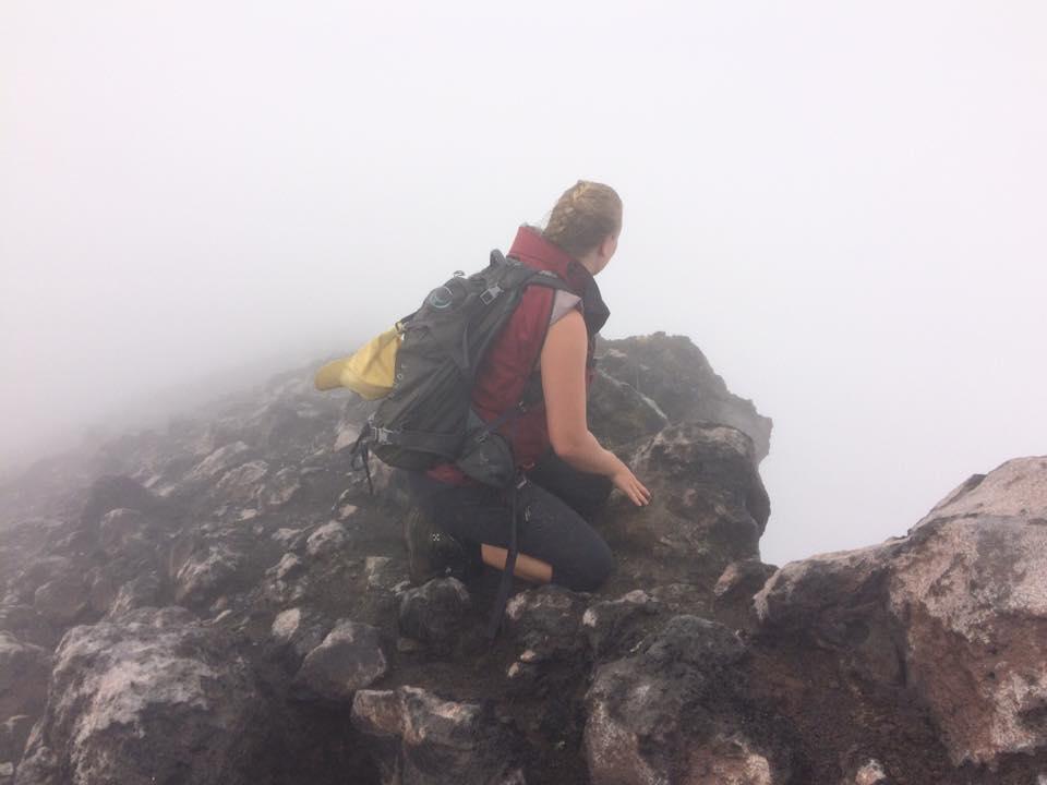 på toppen av vulkan Concepción på Ometepe