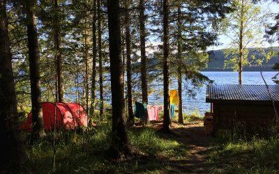 Storsjøbadet og telttur i Sverige