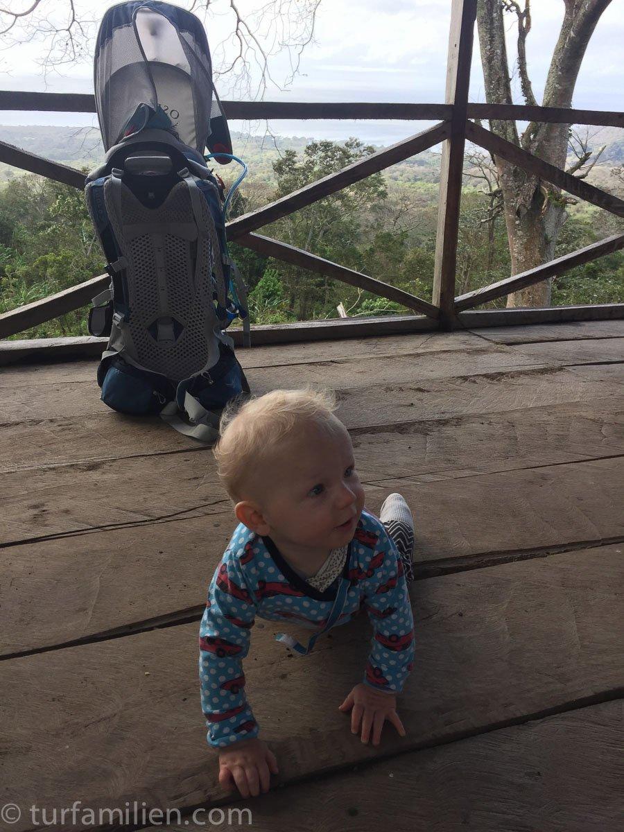 hytte på veien til vulkanen Concepción på Ometepe