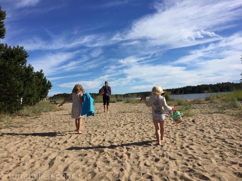 strand på camping i sverige