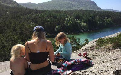 Teltparadiset vårt i Dalsvågen