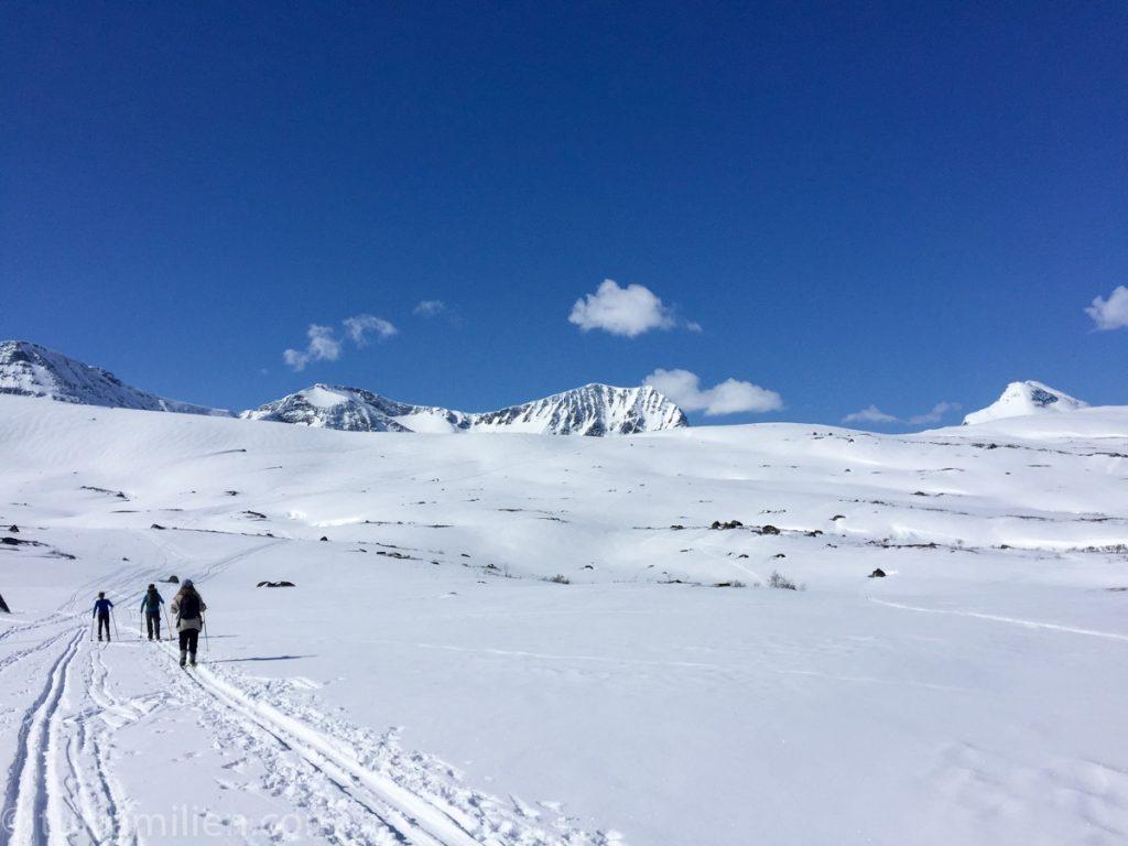på vei mot innerdalen fra storlidalen med ski