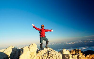 På toppen av Teide i solnedgang