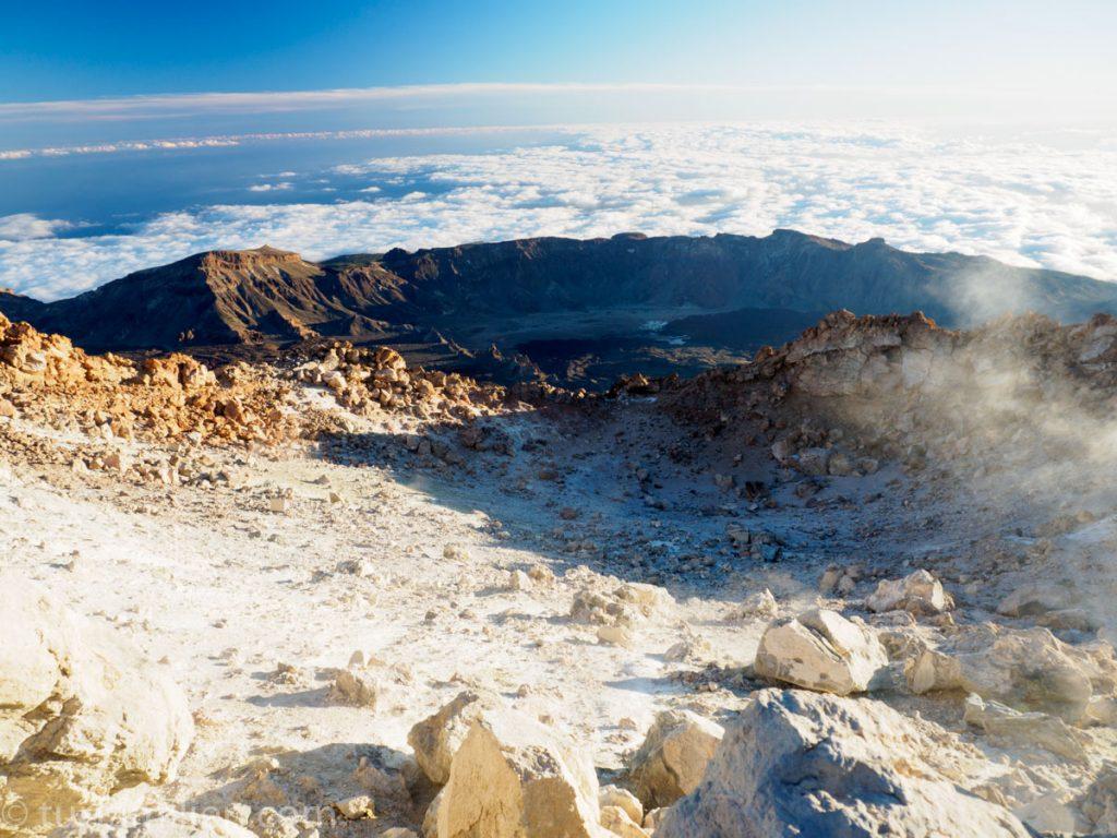 krater og svovel på teide